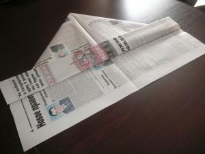Кепка из газеты