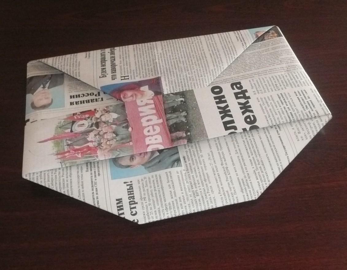Кепка из газет своими руками