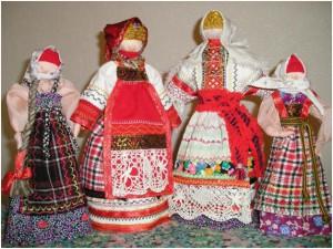 Как делали тряпичных кукол в старину