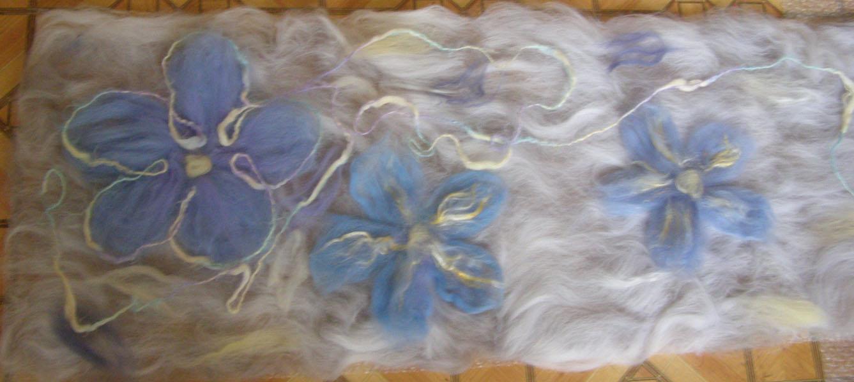 Мастер класс валяния шарфа из шерсти