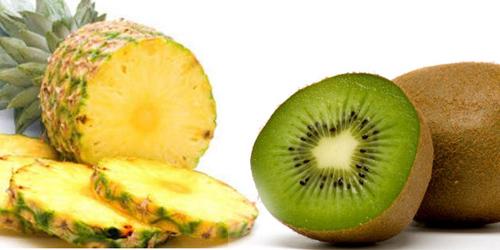киви и ананас