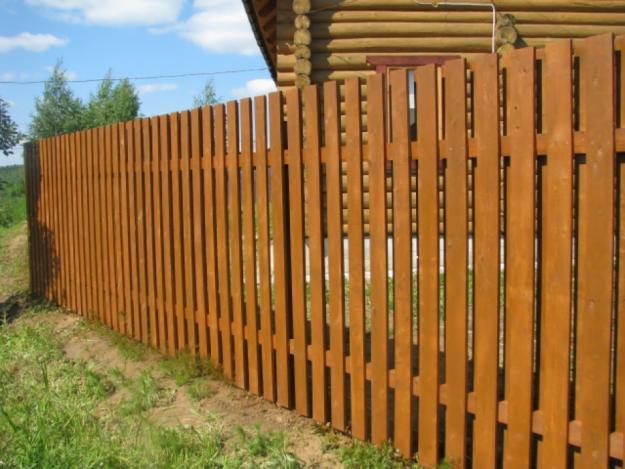 Деревянный забор материалы