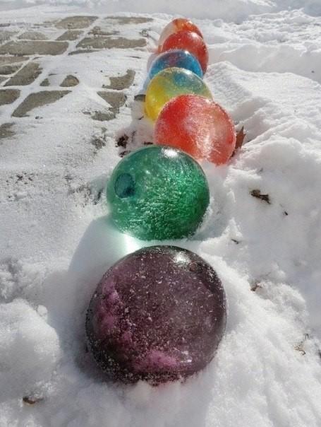 Новогодние ледяные своими руками