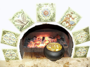 Как украсить печь