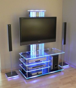Светодиодная лента в оформлении мебели