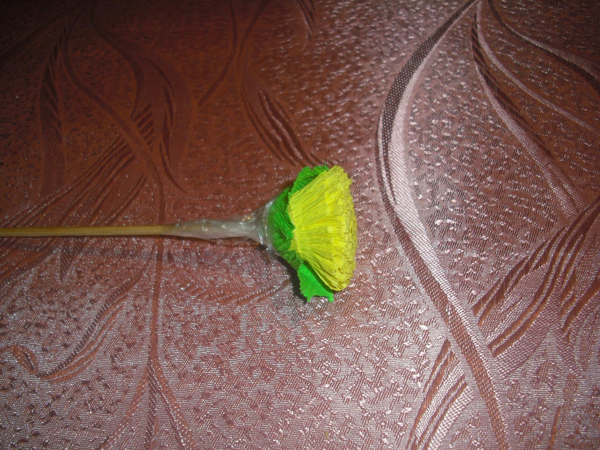 Цветы из гофрированной бумаги своими руками одуванчик