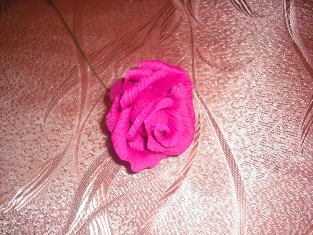 Цветы из гофрированной бумаги больших размеров фото