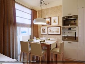 Отделочные материалы для маленькой кухни